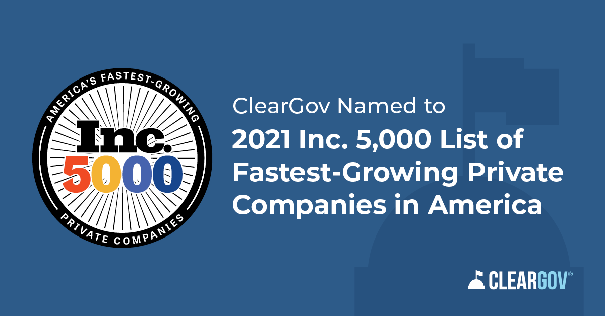 ClearGov Named to 2021 Inc. 5000 List