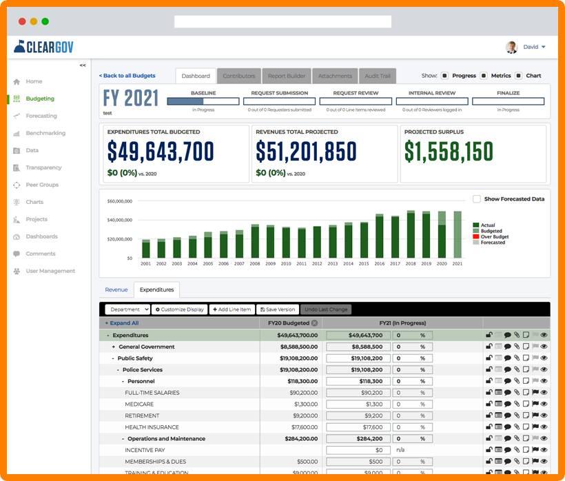 Budget Builder Screenshot